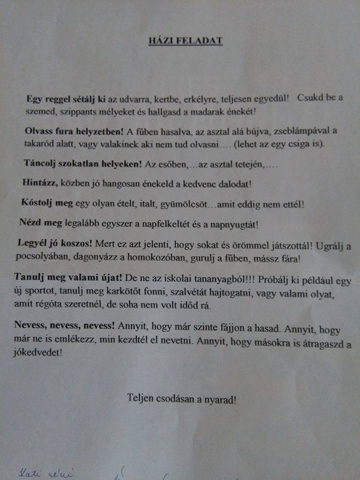 önéletrajz házi feladat Elképesztő házi feladatot adott egy magyar osztályfőnök | Yellow önéletrajz házi feladat